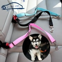 New Thicken Adjustable Dog Cat Pet Car Safety Seat Belt high quality nylon fabric Pet collars Keep your dog safely restrained