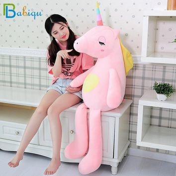 Huge 85-140cm Stuffed Animal Baby Dolls Kawaii Cartoon Rainbow Unicorn Plush toys Kids Present Toys Children Baby Birthday Gift