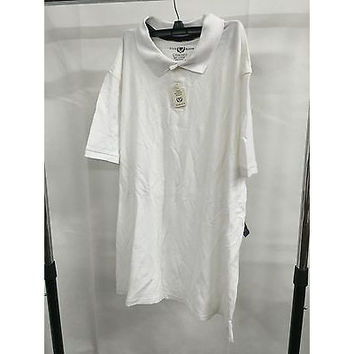 Club Room White Polo Casual Shirt T-Shirt, Size Xxl