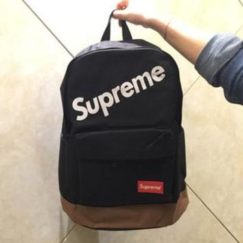 Supreme monogrammed fly bag men's and women's backpack large capacity book bags street color matching personality bags