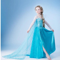 frozen princess clothing girls party dress frozen princess party dress frozen elsa snow queen costume dress