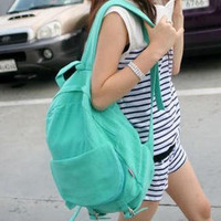 YESSTYLE: Smoothie- Buckled Backpack (Green - One Size) - Free International Shipping on orders over $150