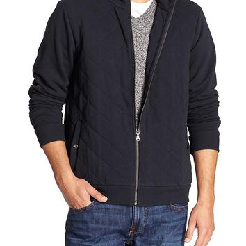 Banana Republic Mens Factory Quilted Bomber Jacket