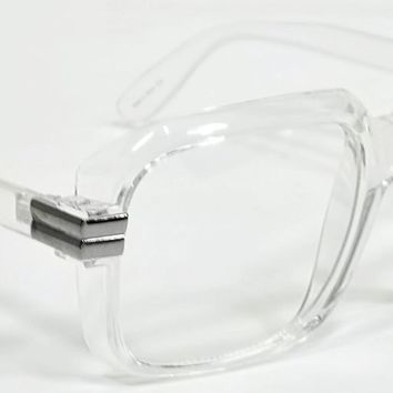 Classic Vintage Style Clear Lens Glasses Transparent Frame Garfield Style