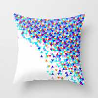 ON SALE Colorful Throw Pillow - Blue Funfetti Lagoon
