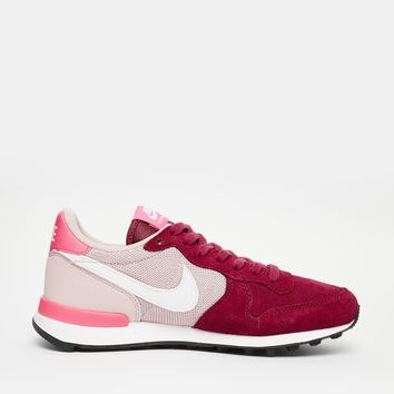 Nike Internationalist Burgundy and Pink Trainers