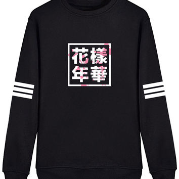 Bangtan Boys Young forever Unisex Black Pullover Sweatershirt SF207Y