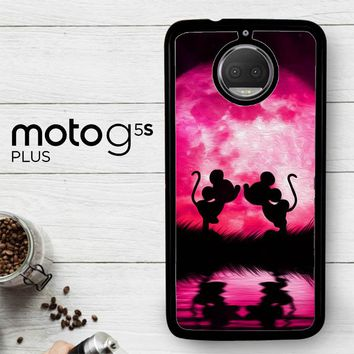 Mickey Minnie Mouse Silhouette W4418  Motorola Moto G5S Plus Case