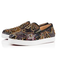 Christian Louboutin Cl Pistozetoile Woman Flat Version Multi Strass 18s Sneakers 1180523cma3 - Best Online Sale