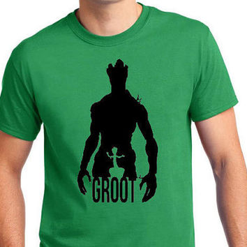 Guardians Of The Galaxy GROOT Inspired Cotton T-Shirt featuring artwork from Abrupt Design