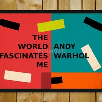 Andy Warhol Quotes Pop Art Glass Framed Poster