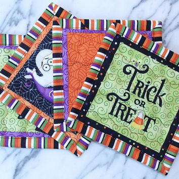 Halloween Mini Quilt Coasters
