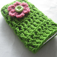 Crochet cell phone cover iPhone Smartphone by cobblestonefibers