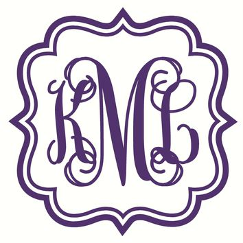 Fancy Frame with Monogram Initials