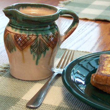 Ceramic Hungarian pitcher Handmade by GreenbriarCreations on Etsy