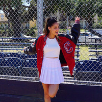 Vintage Varsity Letterman's Jacket- Red Chisholm