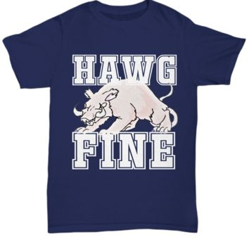 Southern Curvy Girl Hawg Fine White Letters Shirt