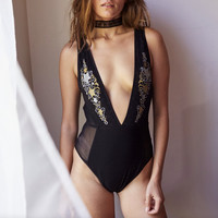 somedays lovin - innocence starry mesh bodysuit - more colors