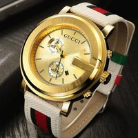 Gucci watches with Louis vuitton bracelets and Cartier rings, men's and women's fashion watches