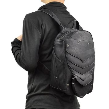 Gothic Wings Leather Backpack Travel Casual Bag