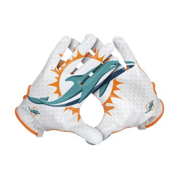 Nike Vapor Knit (NFL Dolphins) Men's Football Gloves
