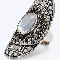 Gem Medallion Dome Ring