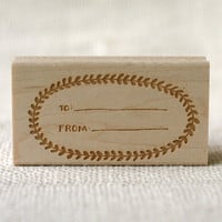 Rubber Stamp - To From