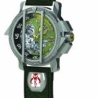 Character Watches STAR140 Boys Star Wars Boba Fett Collectors Watch
