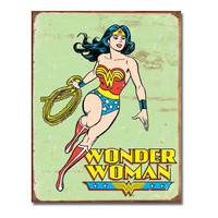 Wonder Woman Retro Vintage Tin Sign