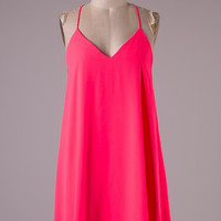 Neon Pink Racer Back Dress