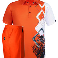 Players Men's Polo & Golf Shorts (Orange)