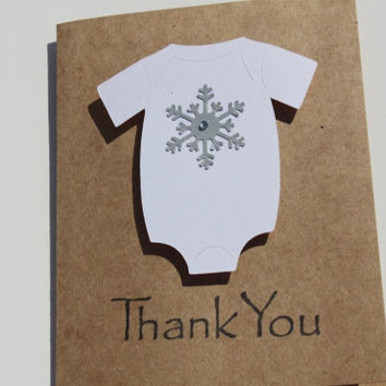 Snowflake Baby Shower Thank You Cards