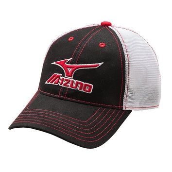 Mizuno Mesh Trucker Hat - Black White