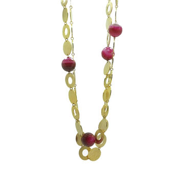 Variations in Brass and Agate, Necklace
