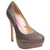 Betsey Johnson Gliteree Skinny Heel Platform Pump