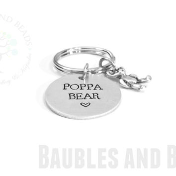 Papa Bear Keychain for Grandpa