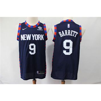 NY Knicks 9 Rowan Barrett Jr City Edition Jersey