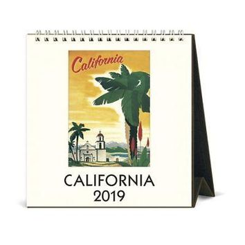 California Easel Desk Calendar, California by Cavallini Papers & Co.
