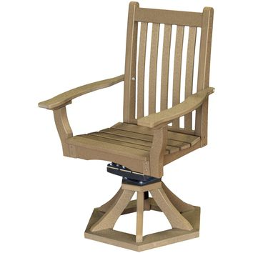 Wildridge Heritage Outdoor Swivel Rocker Side Chair w/Arms  - Ships in 10-14 Business Days