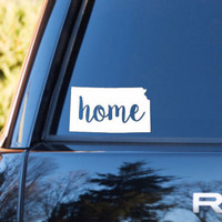 Kansas Home Decal | Kansas State Decal | Homestate Decals | Love Sticker | Love Decal  | Car Decal | Car Stickers | Bumper | 108