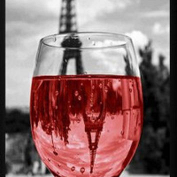 Romantic Wine Glass in Paris Eiffel Tower Plastic Hard Cover Case for iphone 4/4s/5/5s/5c/6/6s/6plus/6s plus