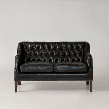 Equestrian Loveseat - Black