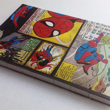 Spider-man Comic book designed 80 page blank journal 5 1/2 X 8 1/2