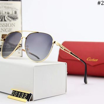 Cartier trend polarized metal large frame men and women sunglasses #2
