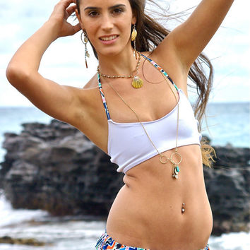 Sugar Beach Halter Bikini Top - Create Your Own