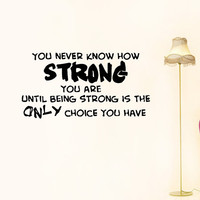 Vinyl Decals Strong Choice Quote Home Wall Art Decor Removable Stylish Sticker Mural L30 Unique Design for Any Room