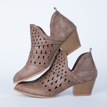 Perforated Cut Out Booties