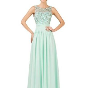 Grace Karin® Women's Sleeveless Chiffon Long Evening Prom Party Dresses CL7532