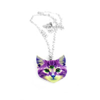 Larry the Space Cat Necklace