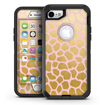 Pink Gold Flaked Animal v2 - iPhone 7 or 7 Plus OtterBox Defender Case Skin Decal Kit